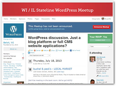 WI / IL Stateline WordPress Meetup